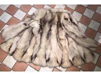 Real for fur full pelt cream Shadow jacket coat 12 14 £225