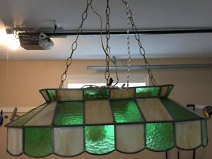 "Tiffany-Style Hanging Lamp 32"" x 16"""