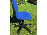 Blue office  / desk swivel chair - as new condition