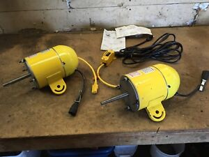 2 New 1/4hp Electric Motors/Switch 110v,Different Projects