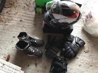 Shark Helmet+KTM Shoes +3 pairs of gloves Size S