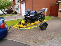 Motorbike bike trailer for hire / rent