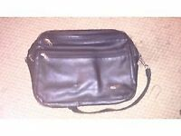 samsonite black leather laptop/travel/office bag,brand new