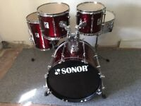 Sonor force 2001 drum shell pack.