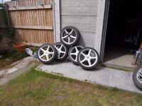 """17"""" TSW Stealths 4 Stud Alloy wheels x 5"""