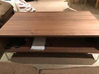 Coffee table with shelf and drawers - collection only