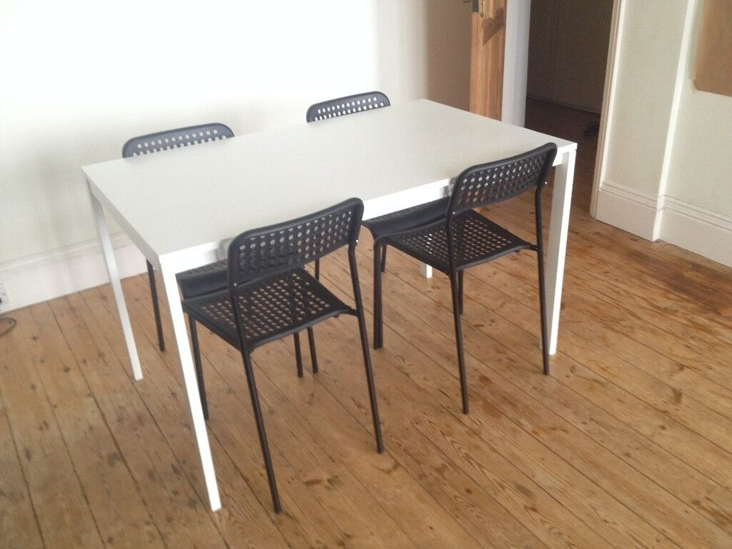 ikea melltorp table and 4 chairs in brighton east sussex gumtree. Black Bedroom Furniture Sets. Home Design Ideas