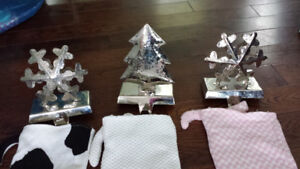 Silver stocking holders