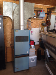 older propane furnace for garage