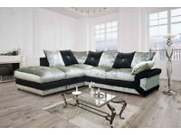 *BRAND NEW* DINO DIAMOND CRUSHED VELVET SOFA *AVAILABLE IN DIFFERENT COLOURS* *EXPRESS DELIVERY*