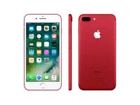 Brand New Apple Iphone 7 Plus 128GB Special Edition Red Mobile Phone O2