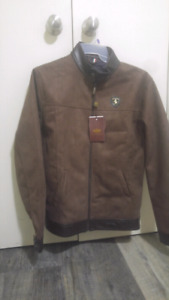 Best Original Italian emporia and co leather jacket brand new
