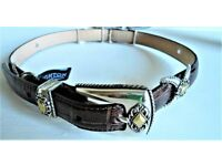 Breighton Collectibles XS Leather & Silver Plate Belt, LOVELY!