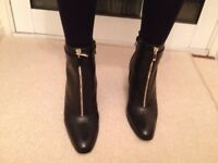 Marks & Spencer Autograph black leather ankle boots