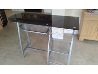Black Bar Type Wine Table with storage areas