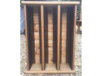 CD rack in pine wood