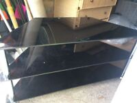 Tv unit black glass in exc condition