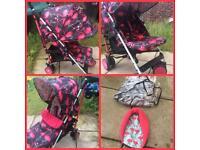 Cosatto Flamingo Fling Supa Stroller buggy pushchair