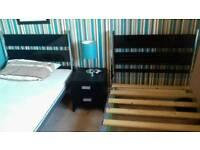 2 Hygena single bed frames