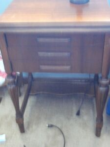 Sewing machine andwooden cabinet