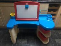 Kids art desk / easel with stool