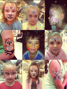 Face painting, caricatures, balloon twisting, body painting