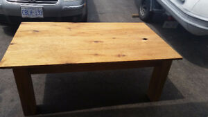 Butternut coffee table hand made