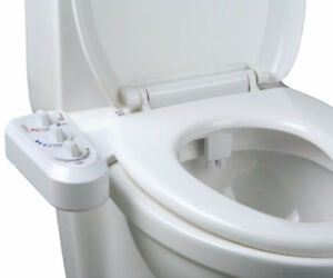 FRESH WARM HOT WATER NON-ELECTRIC ADJUSTABLE ANGLE BIDET TOILET