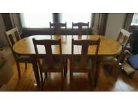 Adjustable Ducal Dining Table & Chairs