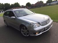 MERCEDES BENZ C CLASS SPORT ESTATE AUTOMATIC 2.1 DIESEL FULL LEATHER 2 OWNERS FULL HISTORY MINT CAR