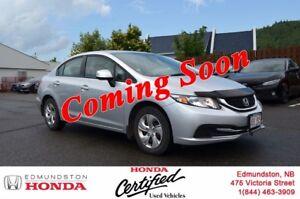 2013 Honda Civic Sedan LX Heated Seats! Bluetooth! Power Options