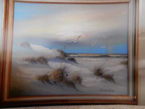 PAINTING - REMINGTON SEASCAPE PAINTING   PRICE REDUCED ..