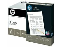 A4 Paper HP Brand 80 GSM 5 x Reams ( 2500 sheets) New