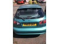 For Sale: DAEWOO LANOS : 2001 Y REG 1598 cc PETROL GREEN