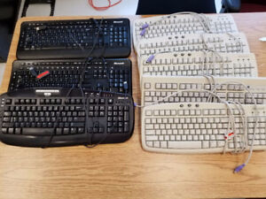 Assorted Microsoft Keyboard and Mouse USB and PS/2 connectors