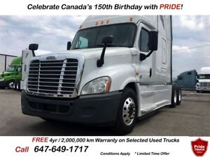 2014 Freightliner CASCADIA EVOLUTION 8 BRAND NEW MICHELIN TIRES
