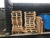 Real wood & composite pallets - approx 30 various sizes