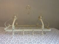 BEAUTIFUL Wrought iron ceiling hanging rack for saucepans and storage with hooks