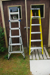 2 Ladders - Barely Used  21-ft and 6-ft