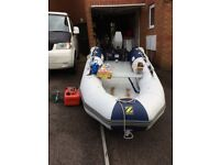 Inflatable 3.4 Zodiac cadet with 25hp out board
