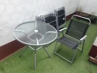 8 Piece Garden Table & Chair Set