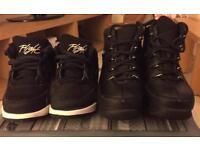 Junior boys size 9 black timberland boots