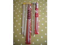 Five Pairs of Knitting Needles Various Sizes all VGC - cash on collection from Gosport Hampshire