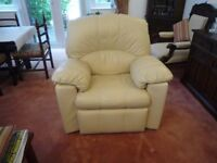 G.Plan Cream Leather Armchairs (Chloe)