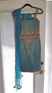 Indian outfit blue