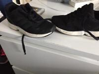 Black zebra adidas Flux size 10