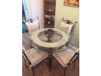 For sale round dining table & chairs
