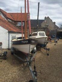 Original devon lugger boat