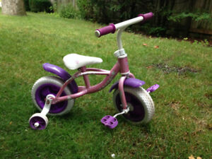 Toddler Girl's Princess Bike with training wheels
