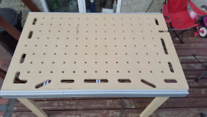 Festool cutting and clamping table top